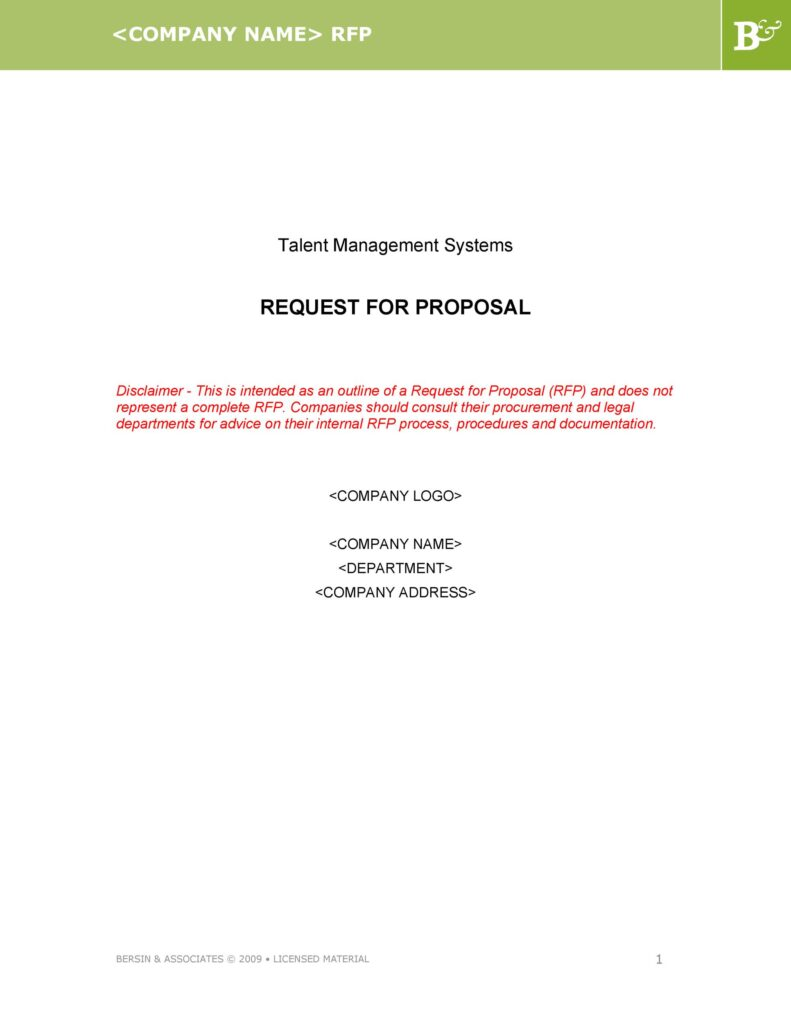 request for proposal template 42