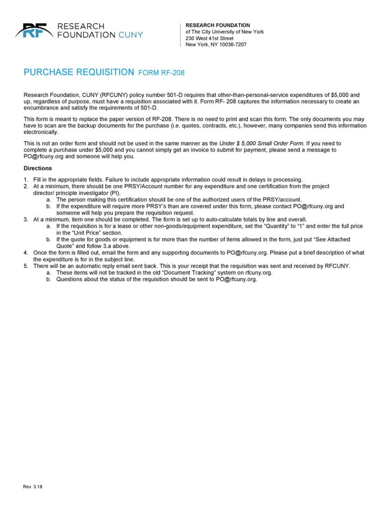 requisition form 22