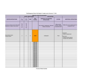 risk register template 39