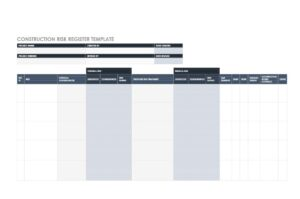 risk register template 40