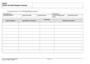 risk register template 42