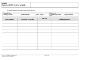 risk register template 42
