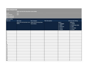 risk register template 49