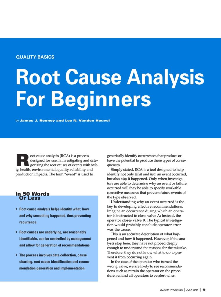 root cause analysis 24