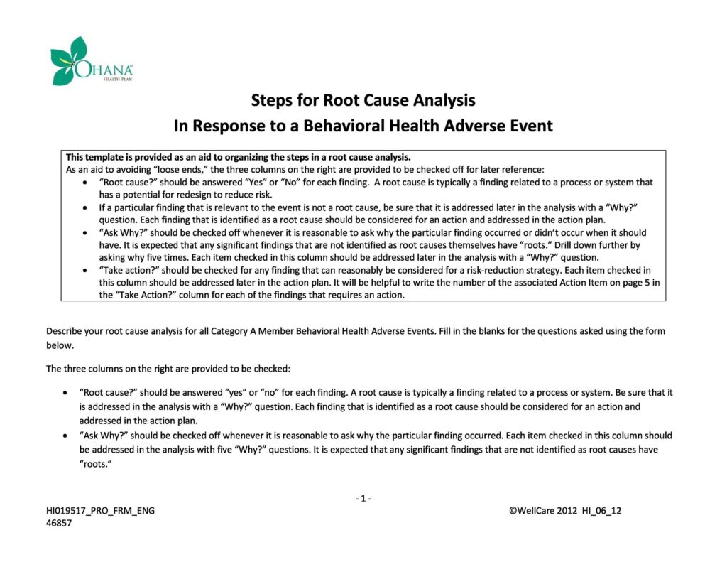 root cause analysis 35