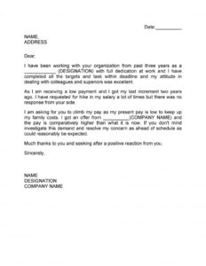 salary increase letter template 17