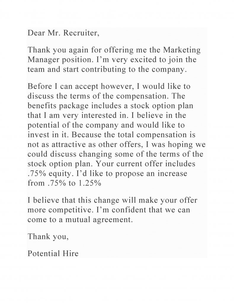 salary negotiation letter sample 08