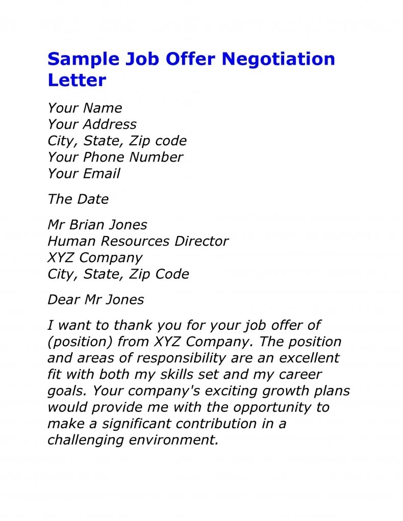 salary negotiation letter sample 11