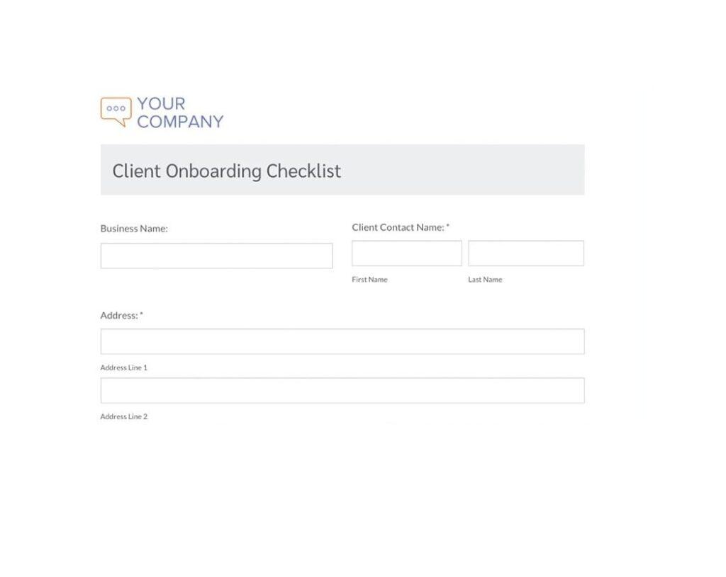Client Onboarding Checklist