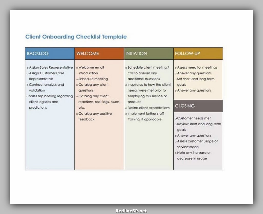 Client Onboarding Checklist template