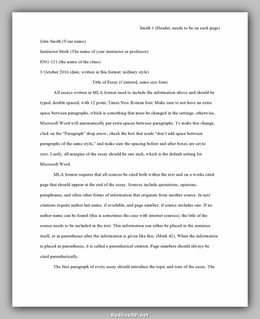 College Essay Template 01