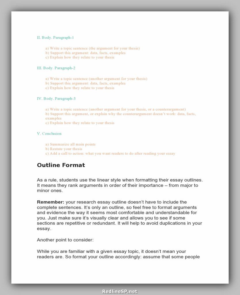 College Essay Template 22