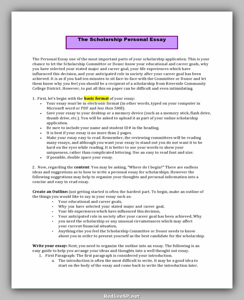 College Essay Template 32