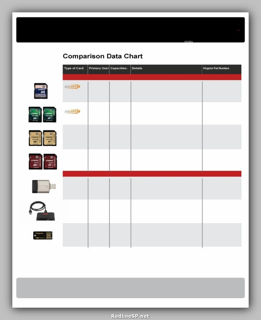 Comparison Chart Template 09