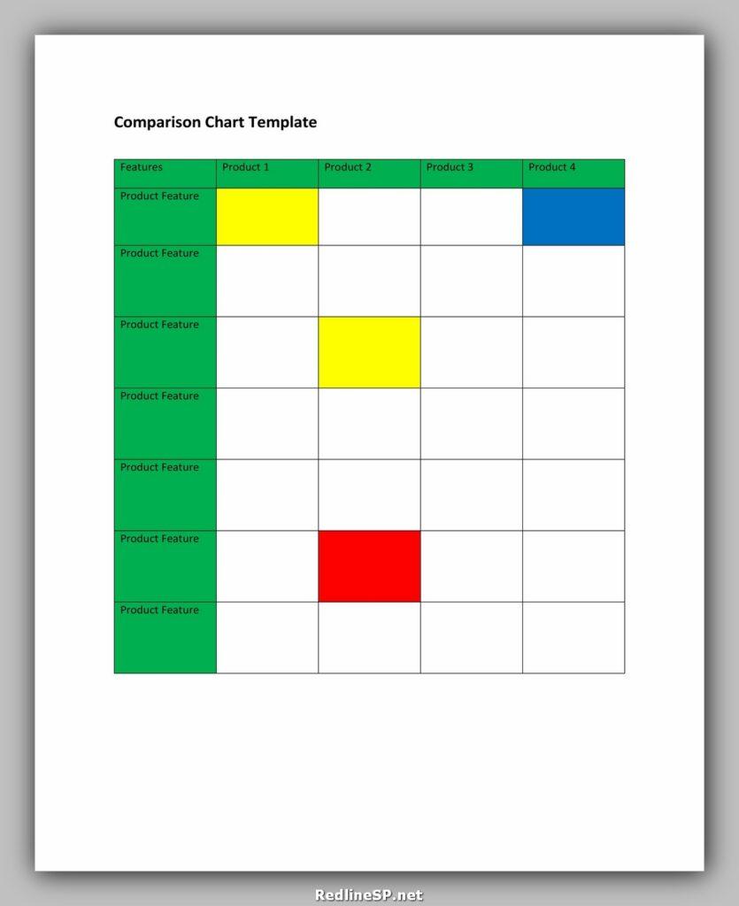 Comparison Chart Template 24