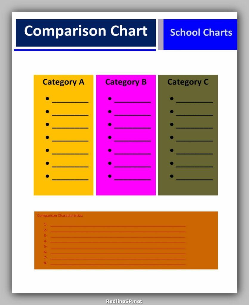 Comparison Chart Template 30
