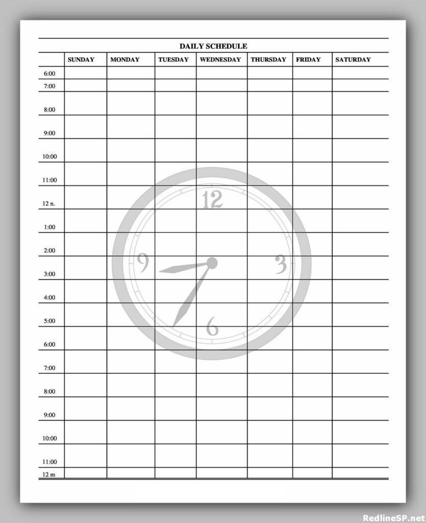 Daily Planner Template Free 11
