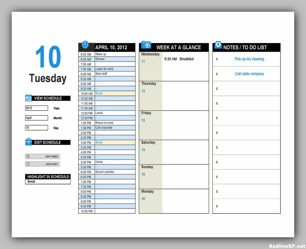 Daily Planner Template Free 19