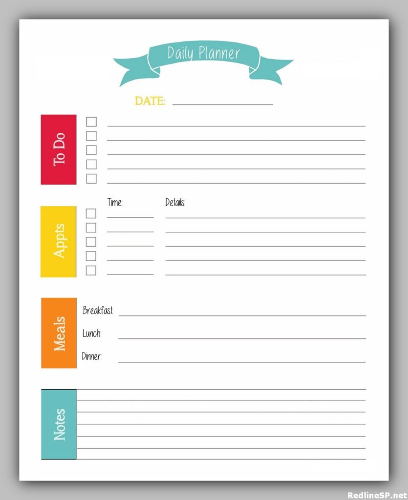 Daily Planner Template Free 25