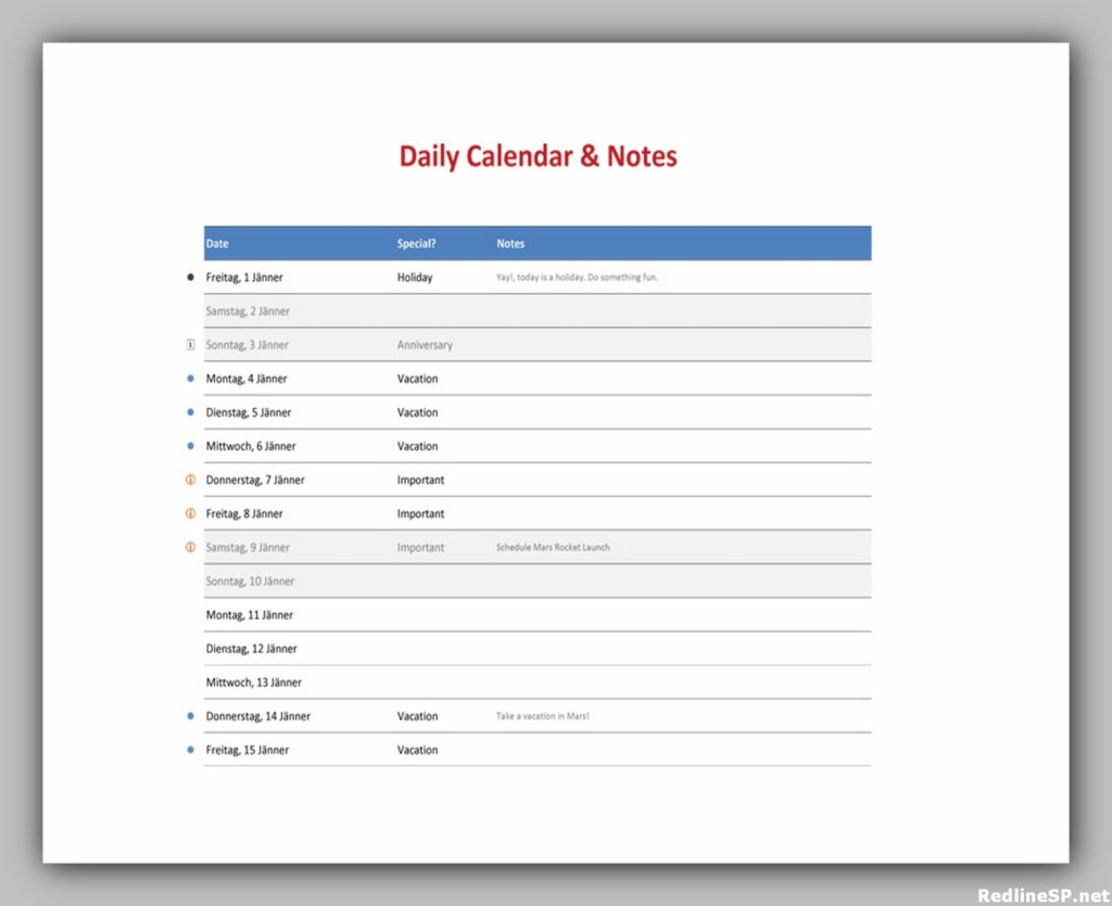 Daily Planner Template Free 31