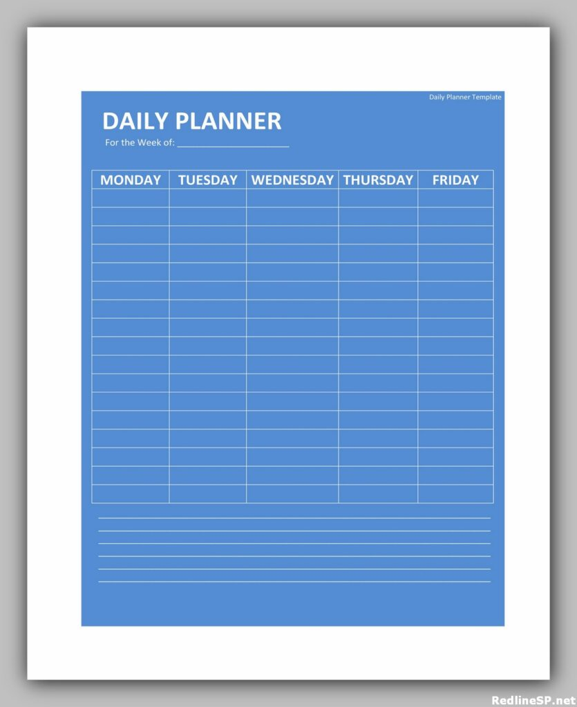 Daily Planner Template Free 33