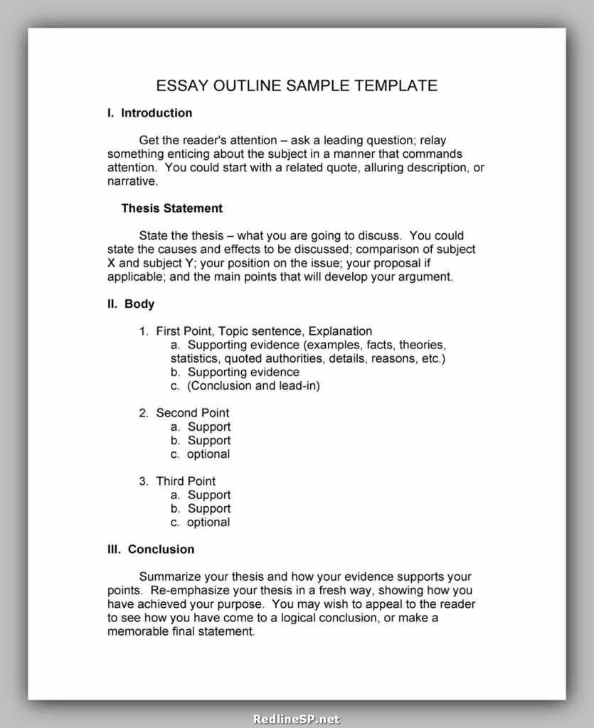 Essay Outline Template 01