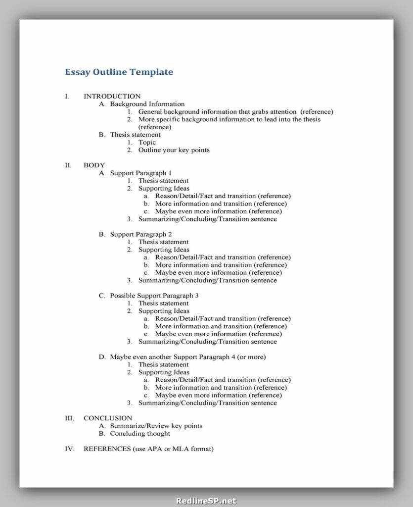 Essay Outline Template 06