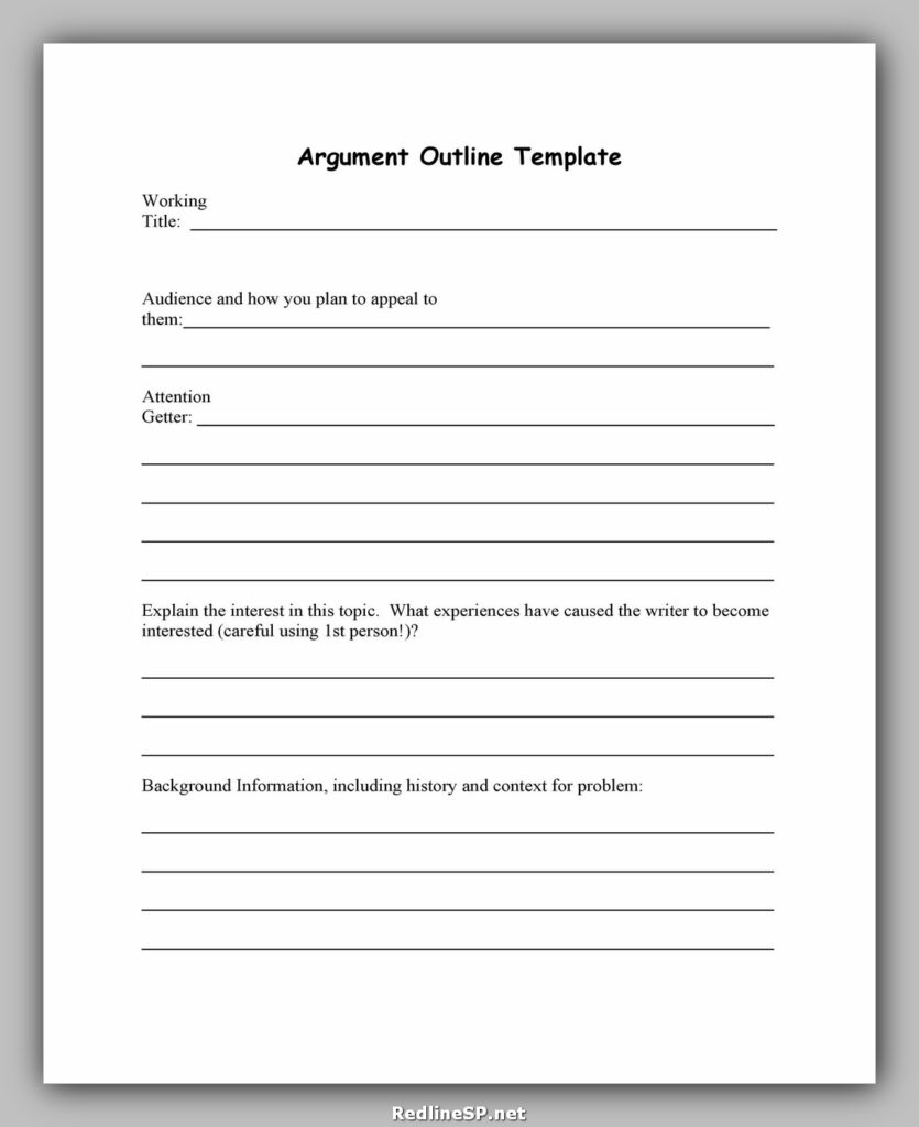 Essay Outline Template 13