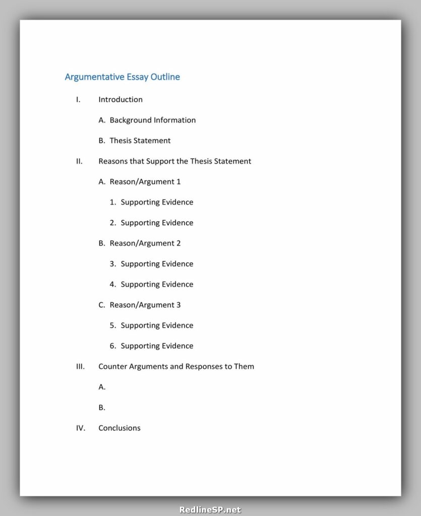 Essay Outline Template 16