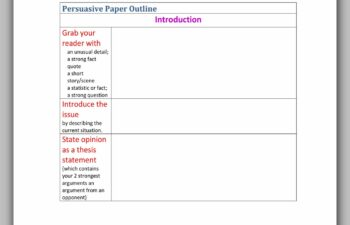 Essay Outline Template 33