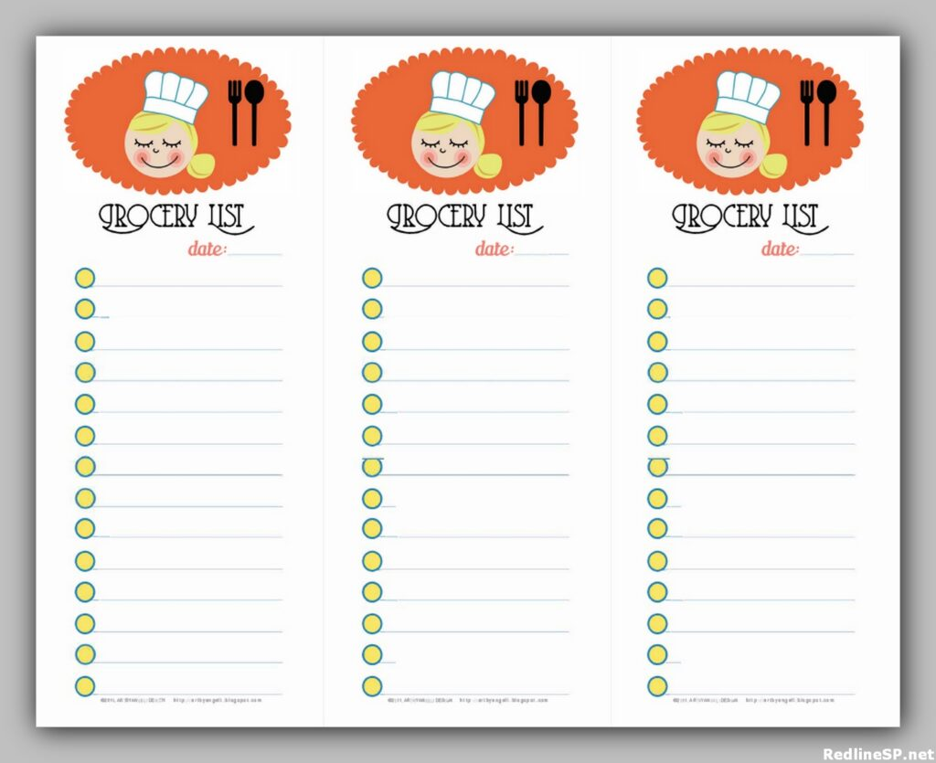 Grocery List Printable Free 14