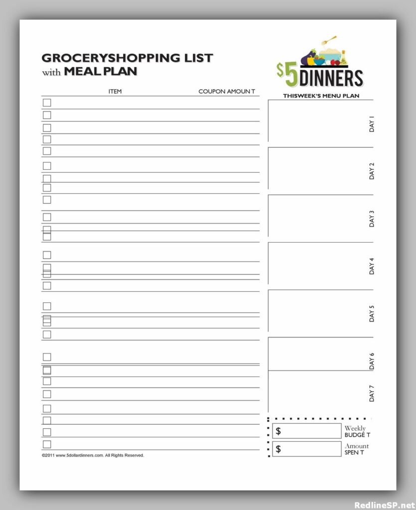 Grocery List Printable Free 21