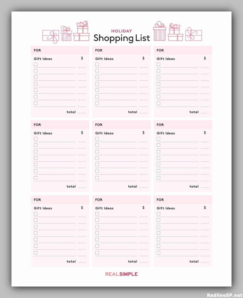 Grocery List Printable Free 28