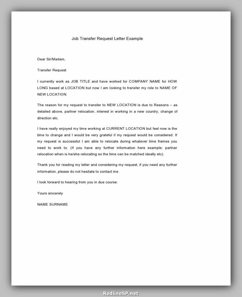 Job Transfer Letter 01