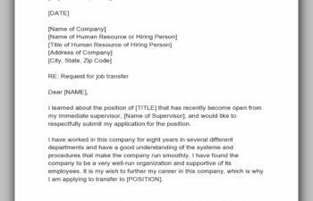 Job Transfer Letter 03