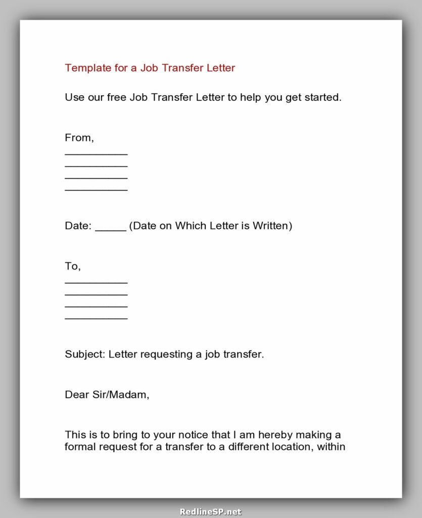 Job Transfer Letter 05
