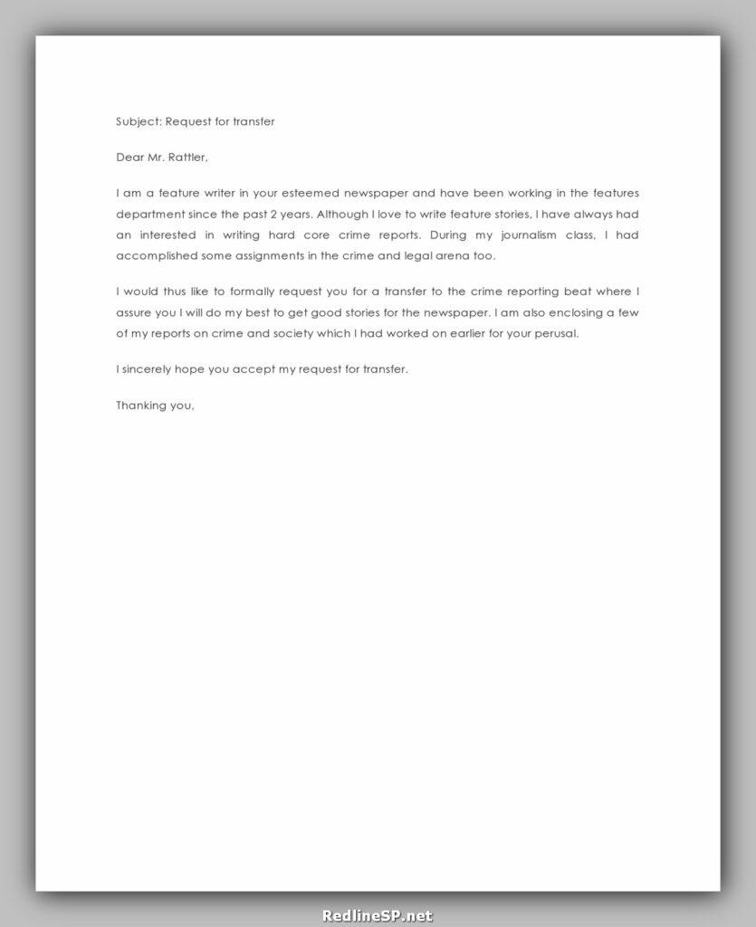 Job Transfer Letter 18
