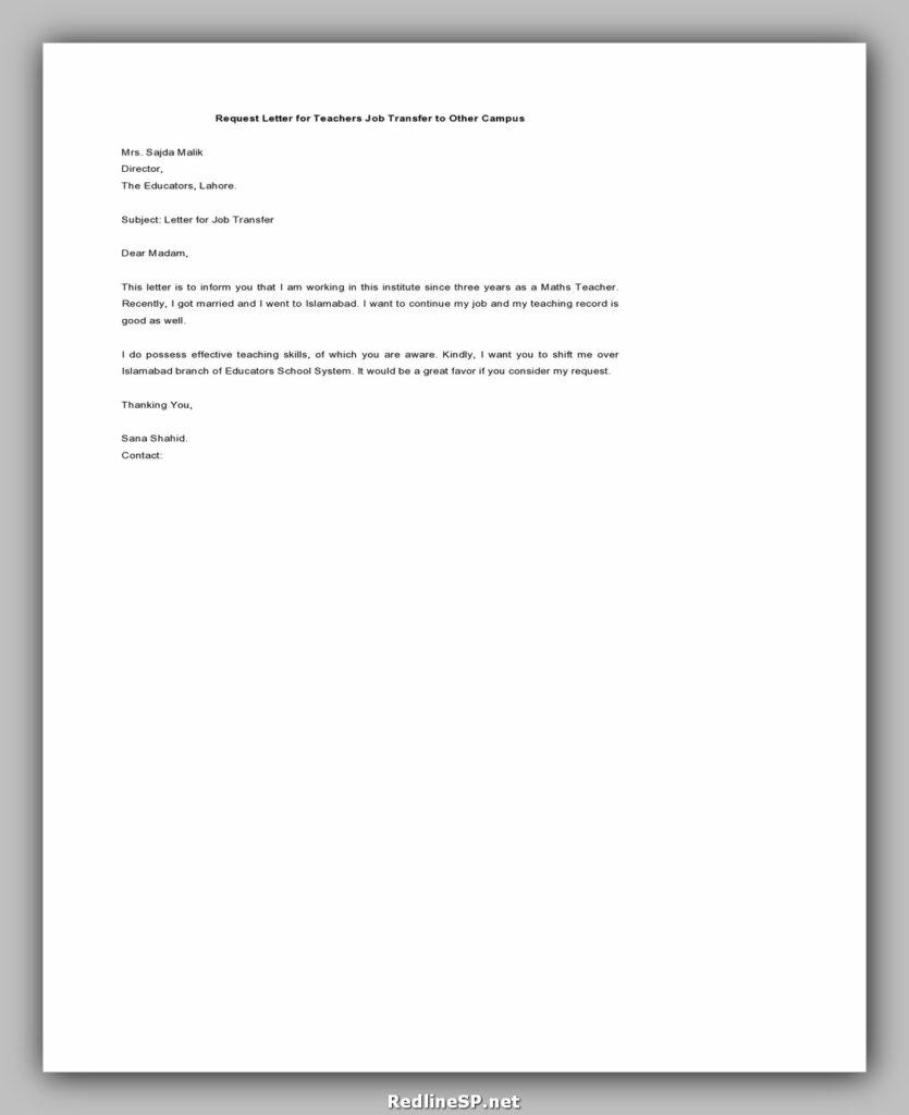 Job Transfer Letter 19