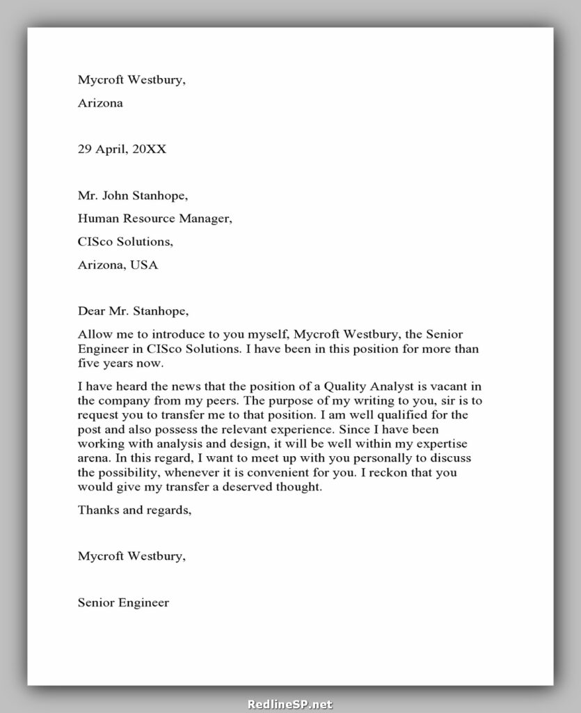 Job Transfer Letter 20