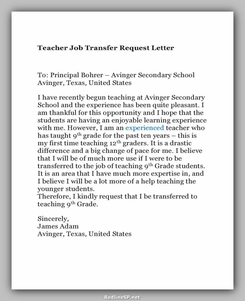 Job Transfer Letter 24