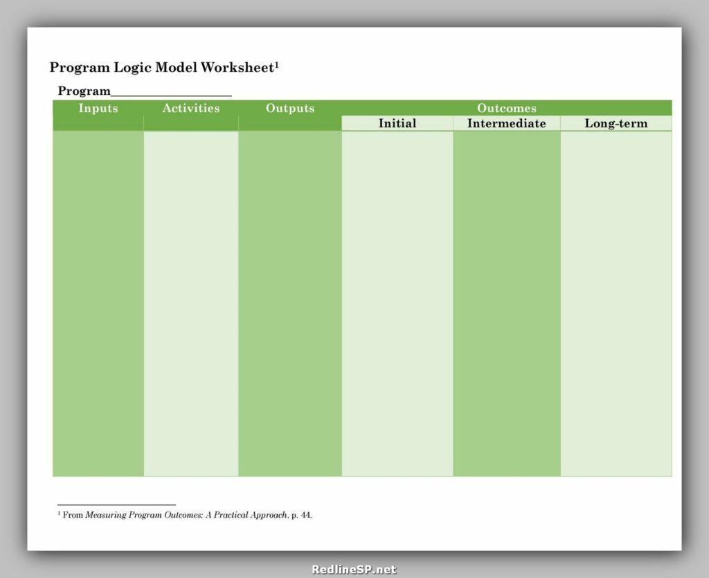 Logic Model Template 09
