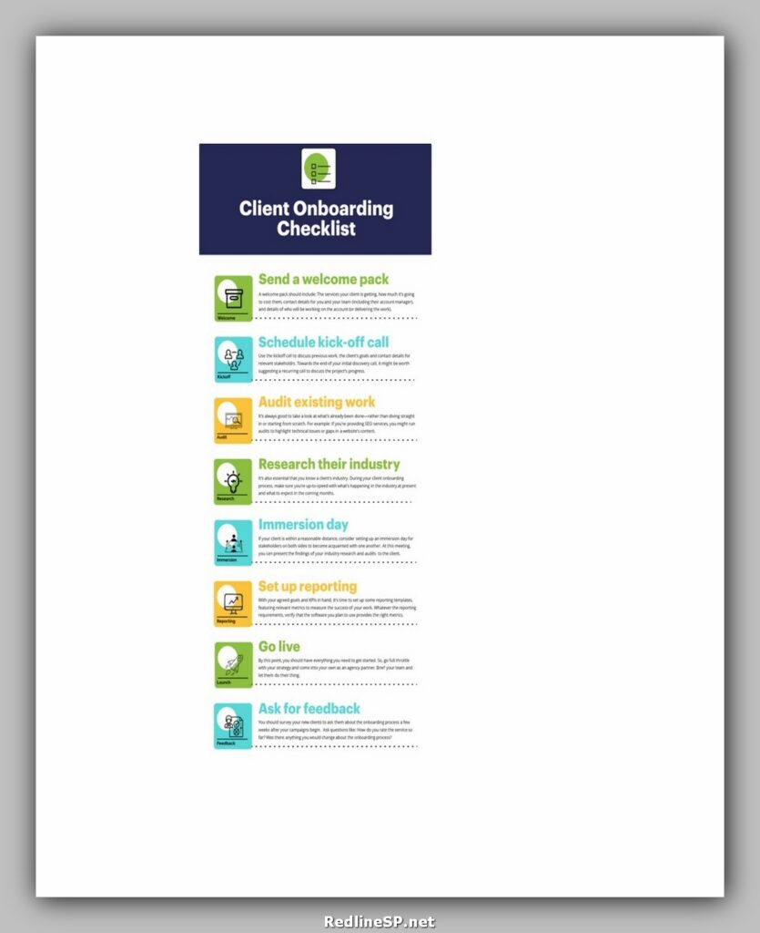 Printable Client Onboarding Checklist Template