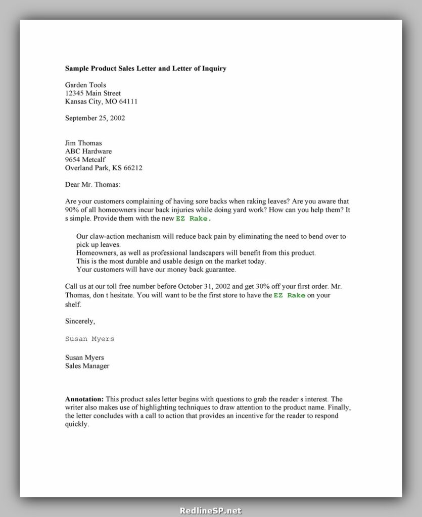 Sales Letter Example 34
