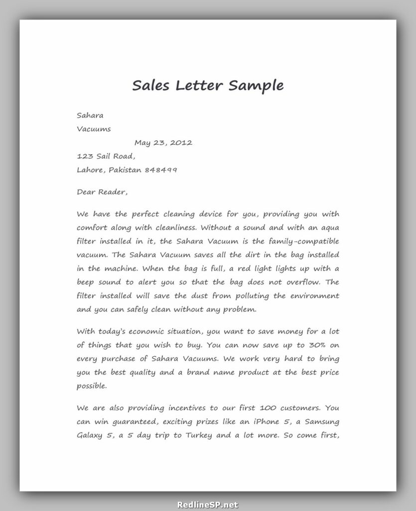 Sales Letter Sample 44