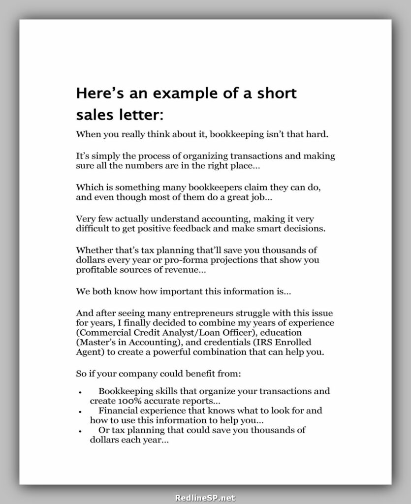 Sales Letter Sample 46