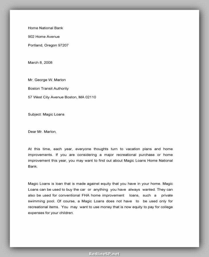 Sales Letter Template 15