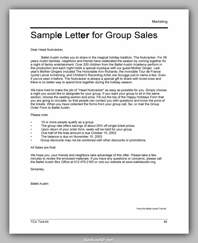 Sales Letter Template 20
