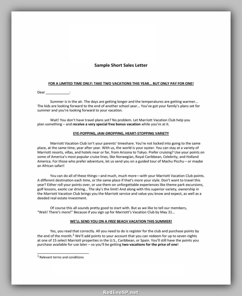 Sales Letter Template 22