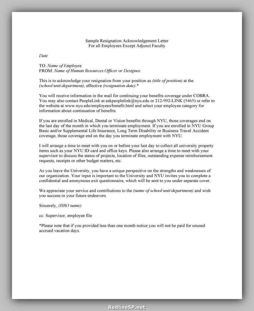 Sample Acknowledgement Letter 02