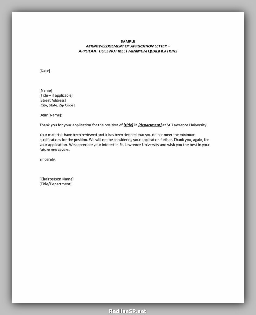 Sample Acknowledgement Letter 23
